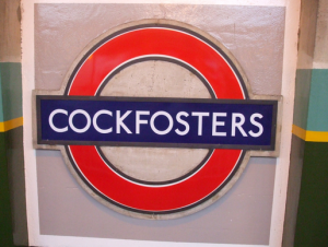Hilarious Tube Names in London - Cockfosters