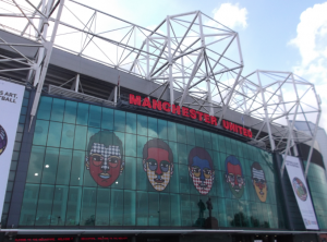 Old Trafford, Home of Manchester United in England.