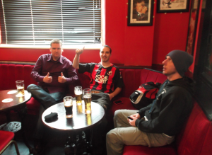 Beers with the lads near Old Trafford.