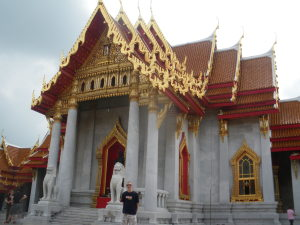 Touring a Wat in Thailand.