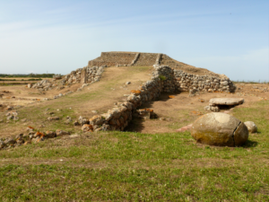 The prehistoric megalithic temple of Monte d'Accoddi